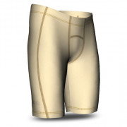 Mens Compression Shorts - Cream