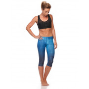 3/4 Compression Tights - Blue Illusion