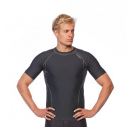 Mens Short Sleeve Compression Top - Grey