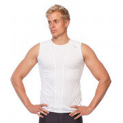 Mens Compression Tank Top - White