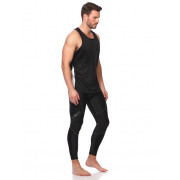 Mens Running Singlet - Black