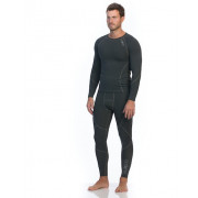 Mens Long Sleeve Compression Top - Charcoal