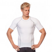 Mens Short Sleeve Compression Top - White